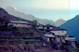 kolejna wioska na szlaku do Sanktuarium Annapurny