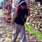 ciążka praca tragarza w Himalajach