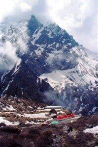 turystyczna baza na szlaku do Sanktuarium Annapurny