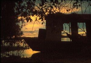 bajecznie kolorowy wschody słońca nad Taquari