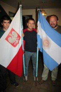 Gabriel i Ricardo Gębarski wraz z Jarosławem Fischbachem