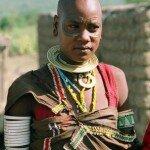 młoda mieszkanka wioski Tatoga