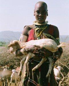 największym skarbem Tatoga są kozy i barany